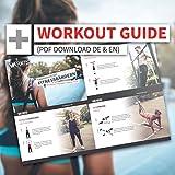 VIA FORTIS Premium Fitnessbänder mit praktischer Tasche – Klimmzug-Band für CrossFit Calisthenics oder Freeletics Workout – Resistance Band / Widerstandsband in verschiedenen Größen - 6
