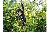 Décoration de Jardin Singe grimpant en résine pour Sapin - Décoration de Jardin - Mascotte - Statue d'animal - 55 cm x 23 cm x 15 cm