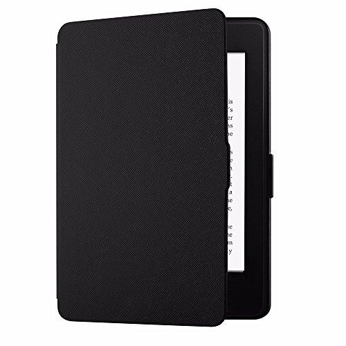 EasyAcc Housse pour Kindle Paperwhite, Ultra-Mince Etui, avec Fonction de Support et Sommeil/Reveil Automatique (Compatible pour Kindle Paperwhite, Noir)