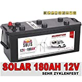 Solis Solarbatterie 180AH 12V Antriebs Versorgungs Boots Wohnmobil Solar Caravan Batterie
