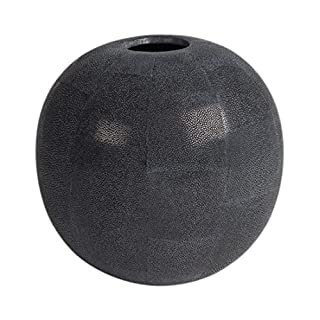 'Amaris Rocco Skate Leather va45003.1Vase, 16x 17cm Black