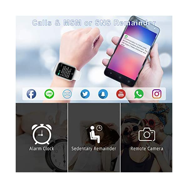 Reloj Inteligente, 1.4 Inch Smartwatch with Monitoreo de presión Arterial, Pulsómetro Impermeable IP68 Pulsera Actividad con Inteligente de Podómetro y Monitoreo del Sueño para Android y iOS 8