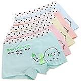 So Aromatherapy 5er Pack Sportliche Mädchen Pantys Hipster Shorts Süß Unterwäsche (2-4 Jahre, Elefant)
