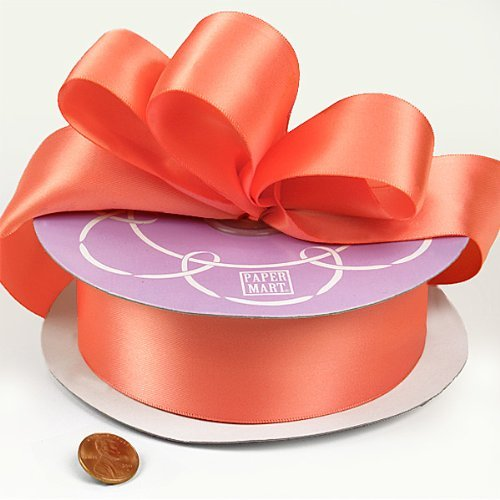 Light Coral Double Face Satin Ribbon, 1-1/2 X 50Yd by Paper Mart -