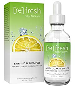 Salicylic Acid 2% Daily Gentle Peel - Naturally Derived From Willow Bark (Professional Chemical Peel). BHA Beta-Hydroxy...