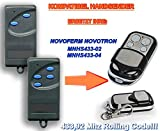 NOVOFERM NOVOTRON MNHS433-02, MNHS433-04 *NEW DESIGN* Kompatibel Handsender, 433.92Mhz rolling code keyfob