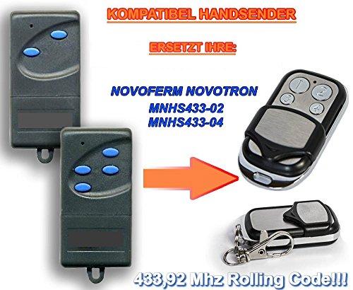 Preisvergleich Produktbild NOVOFERM NOVOTRON MNHS433-02, MNHS433-04 *NEW DESIGN* Kompatibel Handsender, 433.92Mhz rolling code keyfob