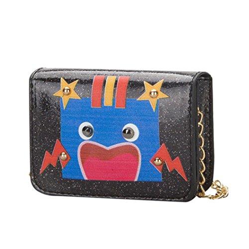 Trada Handtasche, Kinder Baby Mädchen Jungen Kinder Schultertasche Handtaschen Mini Umhängetasche Paket Süße Roboter Messenger Rucksack Kindertasche Schultertasche (Schwarz) (Fleece-handtasche)