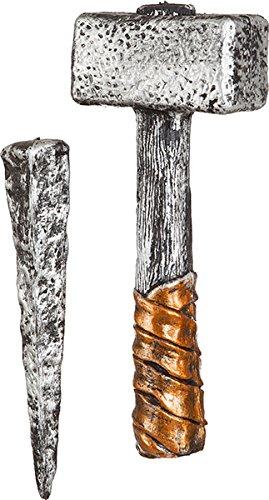 Hammer und Pfahl zum Vampir Jäger Kostüm an (Kostüm Halloween Vampir Jäger)