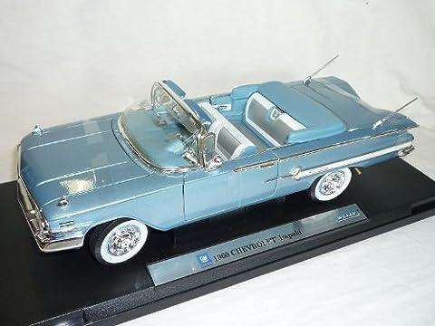 Chevrolet Chevy Chevelle 1960 impala Cabrio Blau 1/18 Welly Modellauto