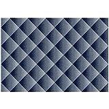 Alfombra dibujo estampado a rombos gris y azul – Alfombra Moderno Sitap Capri 32511 – 5237