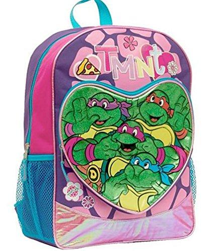 Kinderrucksack Ninja Turtle Mädchen groß backbag Schildkröte Mutan schwarz (ninja turtle ()