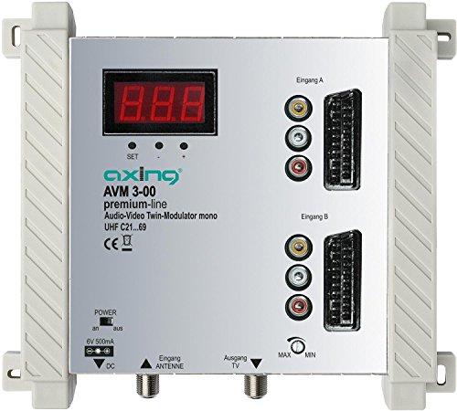 Axing AVM 3-00 Twin Audio-Video-Modulator UHF mono für 2 Kameras -