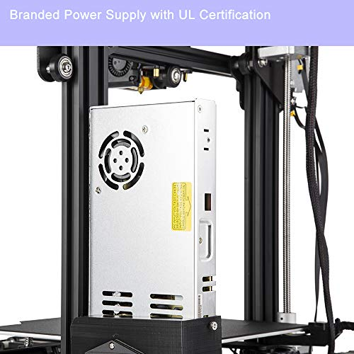 Comgrow Creality Ender 3 Pro 3D Printer with Megnetic Hot Bed Sticker & UL Certified Power Supply Device - 4