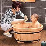 YUGANG Barriles de baño Madera de cedro Barril de bebé Baño de bebé Cask Baño de madera sólida para niños Salud y protección del medio ambiente