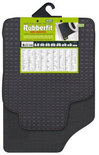 CORA 000134016 Coppia Tappeti Anteriori Rubberfit Fit-6, Nero