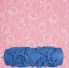 C2K Home Bedroom Office Wall Decor 15cm Fashionable Design Painting Roller Tool for Decoration Machine - Blue
