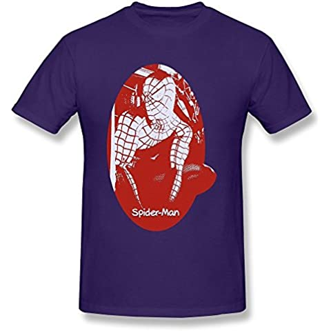 Personalized The Avengers Movie Spider-Man Tee For Uomos Purple