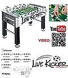 Live Kicker Tischkicker höhenverstellbar weltweit patentiert 7 Aufstellungen Stecksystem, inkl. Bälle, Profi-Kicker, Tischfußball, Gewicht: 50kg, 2,8cm Korpus, 15,8 mm Stangen, Izzy Sport