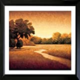 gerahmt Early Morning I von Gregory Williams 24 x 24 ART PRINT POSTER Wand Decor Early Morning Fields Woods sich dahin Stream Warm Tones