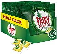Fairy Original 125 Pastiglie per Lavastoviglie, Detersivo in Confezione da 125 Caps, 25X5, Limone