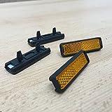 Pedal Reflektoren Set 4 Stück zum Stecken Fahrrad Pedalreflektor Rückstrahler Pedalstrahler