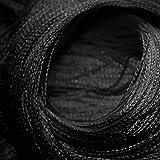 WOMETO Fadenvorhang Türvorhang 90x245 Stangendurchzug Schlaufe - schwarz waschbar Vergleich