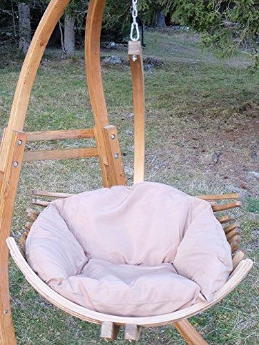 DESIGN Sedia d'attaccatura sedia BEATA larice grande frameless rivestimento in tessuto