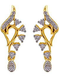 Joyalukkas 18k Yellow Gold and Diamond Stud Earrings