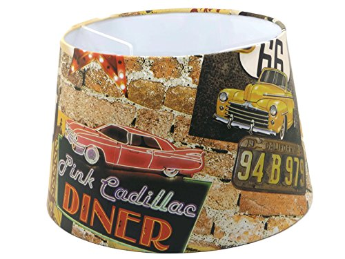 route-66-american-diner-lampshade-ceiling-light-shade-or-floor-lamp-shade-large-135-usa-pink-cadilla