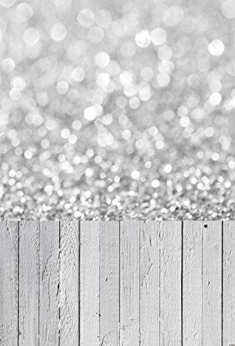 NIVIUS PHOTO 150*300CM grau Bokeh Studio foto hintergrund backfrop aus dünnem vinyl gedruckt mit weißen boden für neugeborene d-9732