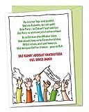 XXL Verabschiedungskarte Viel Spaß dabei, Karte zum Abschied in Rente, Ruhestand, Pensionierung, Altersteilzeit, Sabbatical, Frührente von Kollege, Kollegin, Mitarbeiter, Chef, Abteilungsleiter, Vorgesetzter - inklusive Umschlag (DIN A4)