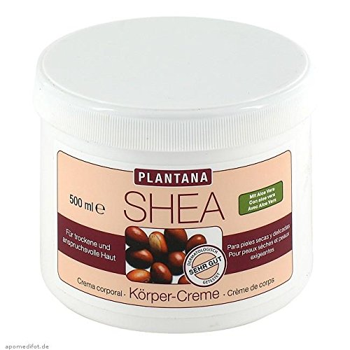 PLANTANA Shea-Butter Körper Creme 500 ml Creme (Shea-butter Haut Creme)