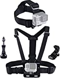 Smatree® Head Strap Mount + Chest Mount for GoPro Hero5, 4, 3+, 3, 2, 1