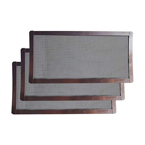 SADA72 PC-Filternetz, 3 Stück Staubfilter für Computer-Kühler, magnetischer Rahmen, PC-Lüfter, Staubfilter, PVC, staubdichte Abdeckung, Computer-Lüftergitter -
