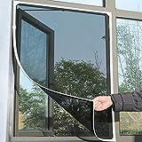 130 cm x 150 cm Fliegengitter Rahmen, Insektenschutz Fenster, Zuschneidbar ohne Bohren Klebmontage| Insektenschutz Fenster Fliegenvorhang Moskitonetz ... (Schwarz)