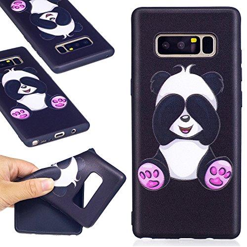 Ooboom® iPhone X Coque TPU Silicone Mat Caoutchouc Gel Housse Étui Cover Case Pare-chocs Souple Ultra Mince pour iPhone X - Papillon Panda