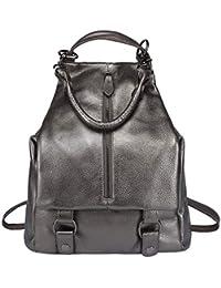 70f928e79466 BOYATU Women Genuine Leather Backpack Ladies Rucksack Waterproof Travel  Shoulder Bag