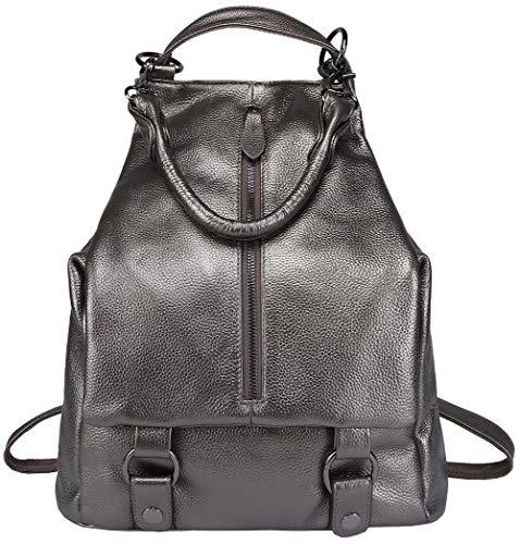 Rucksack aus echtem Leder für Damen Geldbörse Tagesrucksäcke Crossbody Umhängetasche weiblich