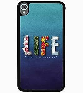 ColourCraft Quote Design Back Case Cover for HTC DESIRE 820