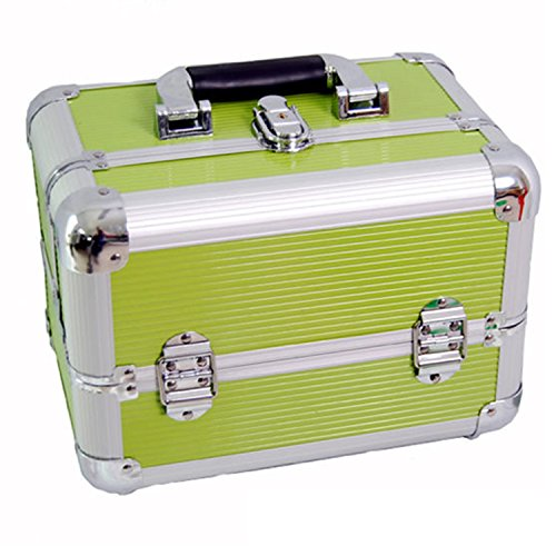 Price comparison product image DynaSun Aluminium Beauty Case Vanity Case Beauty Case Aluminium Design 31 cm, GREEN (Green) - sku