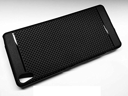 lowest price c5f9f 1839a 54% OFF on Premium Dotted Black Rubberised Soft Back Case Skin Cover ...