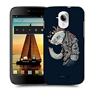 Snoogg Yoo Fish Designer Protective Back Case Cover For MICROMAX A117