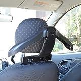 Ad Fresh Black Plastic Car Back Seat Coat Clothes Hook Holder