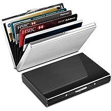 e036a6cf4 Yosemy Tarjetero para Tarjetas de Crédito, Delgado Billetera de Aluminio  con RFID Bloqueo para Tarjetas