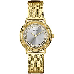 Guess Reloj Analógico para Mujer de Cuarzo con Correa en Acero Inoxidable W0836L3