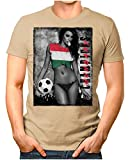 Legendary Items™ - Hungary-Champions - Herren T-Shirt EM 2020 Sexy Girl Frau Fußball Trikot Ungarn Magyarország Vintage Khaki 4XL