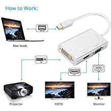 Farraige Samandar E Commerce 3 In 1 Gold Plated Mini Displayport Thunderbolt To Hdmi/Dvi/Vga Display Port Cable For Macbook Pro Mac Air Mac Mini