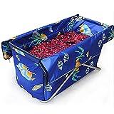 Tianyi Yugang Kinder Badewanne Erwachsene Tragbare Badewanne Verdickte aufblasbare unabhängige Tragbare mit Komfortablen Hochwertigen Weichen Sicherheit Badewanne PVC Blau 110 * 65 * 10 cm