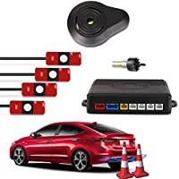 CAR ROVER® Sensor Aparcamiento Kit 4 13mm Sensor Marcha Atras con Zumbador Bibi Alarma de Sonido (Blanco)